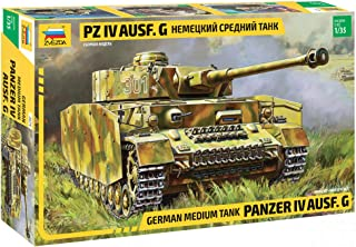 "ZVEZDA 3674 - German Medium Tank Panzer IV AUSF.G - Plastic Model Kit Scale 1/35 572 Parts Lenght 7.5"" / 18.9 cm"