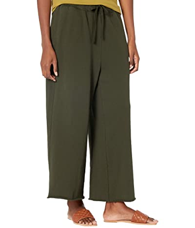 Eileen Fisher Organic Cotton French Terry Wide Leg Crop Pants