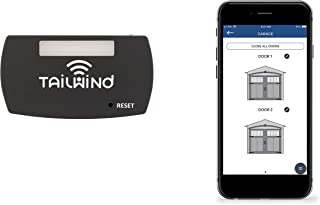 Tailwind iQ3 Premium Featured Smart WiFi Garage Door Opener - Internet Enabled Remote Control Compatible with Smartphones, Alexa, Google Home, Siri Shortcuts, Smart Things, and IFTTT. Up to 3 Doors.