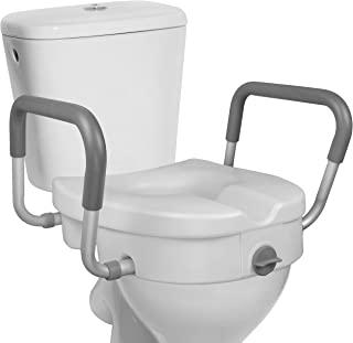صندلی توالت بلند شده RMS - بالابر بلند شده 5 اینچ با بازوهای خالی قابل تنظیم - صندلی ایمنی توالت برای حالت طولانی یا استاندارد