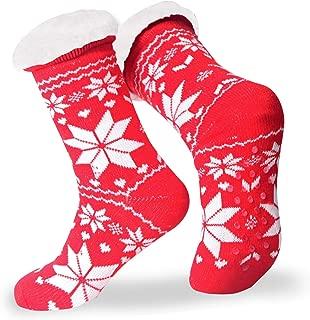 Lightweight Slipper Socks Women Winter,women fuzzy sock slippers warm,Fleece Lined slipper socks with grippers