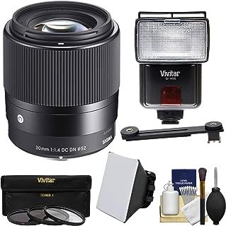 シグマ30mm f / 1.4Contemporary DC DNレンズwith 3フィルタ+フラッシュ+ディフューザー+ソフトボックスキットfor Olympusペン/OMD & Panasonic Lumix DMC - Micro 4/ 3カメラ