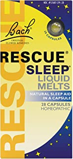 RESCUE Sleep Liquid Melts, Natural Sleep Aid - 28 Capsules