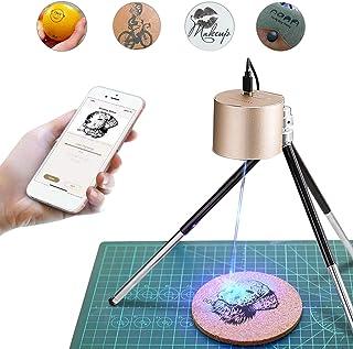 LaserPeckeレーザー彫刻機 1600mW 小型レーザー刻印機 手軽 高性能高解像度 DIY道具 加工機 無線Bluetooth/iOS/Android/USB接続用 使...