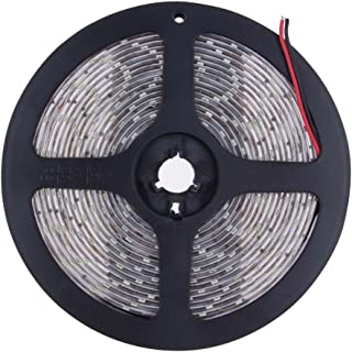 Wusad 12V 5M SMD 3528 300 LED Strip Light String Tape Non Waterproof Flexible Warm Cool White Fairy Strip Light (A)