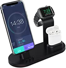 OLEBR Charging Stand Charging Docks Suitable for iWatch Series 4/3/2/1/ AirPods/iPhone Xs/iPhone Xs Max/iPhone XR/X/8/8Plus/7/7 Plus /6S /6S Plus/iPad-Black