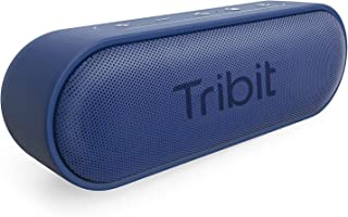 Tribit XSound Go Bluetooth Speakers - 12W Portable Speaker Loud Stereo Sound, Rich Bass, IPX7 Waterproof, 24 Hour Playtime, 66 ft Bluetooth Range & Built-in Mic Outdoor Party Wireless Speaker (Blue)