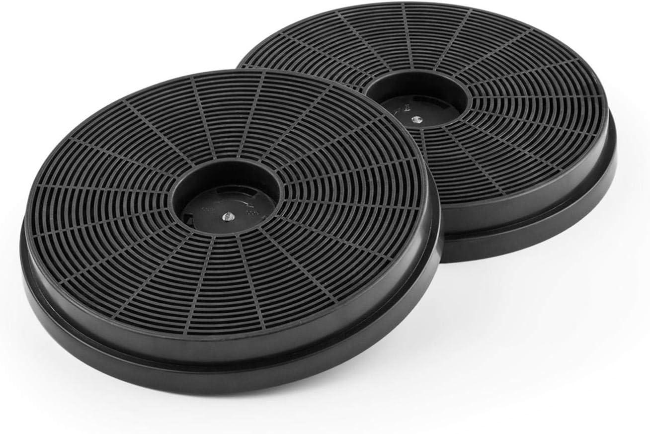 Klarstein Juego de filtros de carbón activo - Dos filtros, Cambia la campana extractora a modo de recirculación del aire, Repuesto, Sustitución, Para la campana extractora Victoria