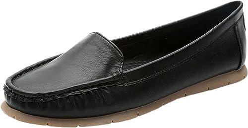 DQQ Femme Stitch à Enfiler Bateau Chaussures de Bateau. - - Noir - Noir,  vente en ligne