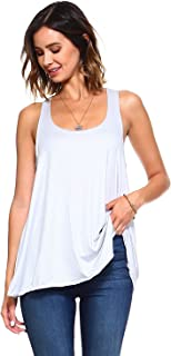 d5a24a803773f Simplicitie Women s Sleeveless Loose Fit Flowy Workout Racerback Tank Top -  Regular and Plus Size -