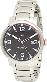 Tommy Hilfiger men's Black Dial Stainless Steel Watch - 1791755