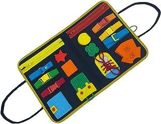 XZMAN Conseil Occupé pour Tout-Petits, Jouet Montessori pour Développer Les Compétences De Base, Apprendre À Habiller Le J...