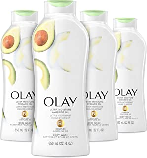 Olay Ultra Moisture Body Wash with B3 and Avocado Oil, 22 Fl Oz (Pack of 4)