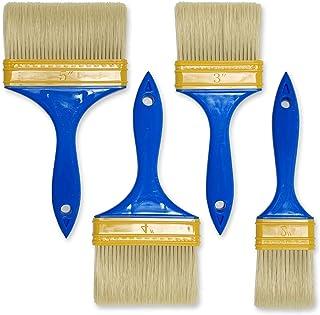 多用途刷毛 4パック ペイント刷毛/水彩/油絵/家具/ペンキ/フェンス/車用/掃除/バーベキュー