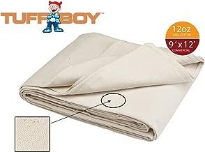 TUFFBOY 12 OZ. Commercial Grade Cotton Canvas All Purpose Drop Cloth 9 Ft. X 12 Ft.