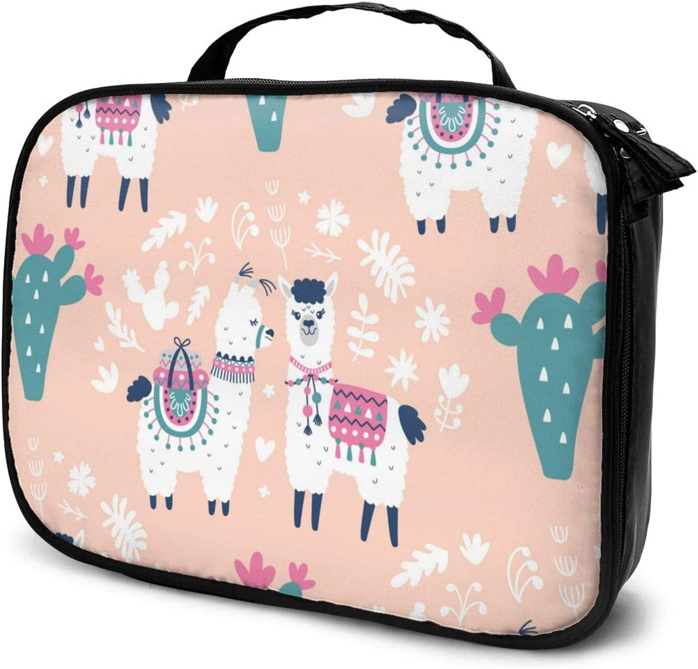 Lovely Alpaca Travel Makeup Train Orga Overseas OFFicial store parallel import regular item Cosmetic Case