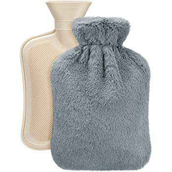 UMOI Eco Hot Water Bottle 2 Liter with high Quality Supersoft Korean Fleece Cover BS1970:2012 Certified Model 2020 Pink