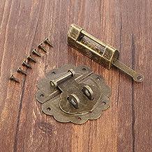 """1 Set Van Antieke Bronzen Oude Slot Hangslot En Doos Lock Hasp 58mm / 2,28"""", Gebruikt For Kabinet Jewelry Houten Box Hangs..."""