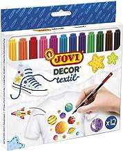 Jovi 1410 - Estuche, 12 rotuladores textil, colores surtidos
