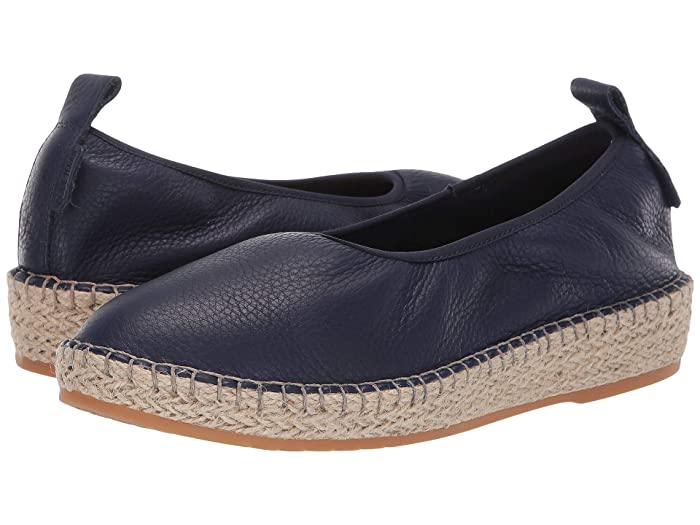 Cole Haan  Cloudfeel Espadrille Loafers (Marine Blue Leather/Natural Jute) Womens Shoes
