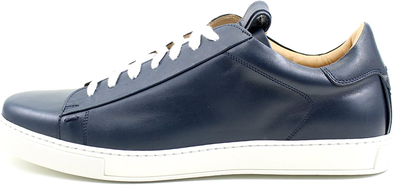Giorgio Rea Men shoes bluee Sneakers Sneackers Free Time Casual shoes Leather Made in  Fashion Luxury