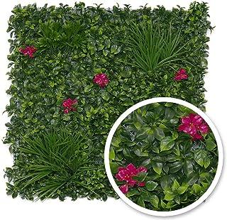 Gardenode Mur végétal Artificiel pour extérieur et intérieur – 1m² - Jungle Flower