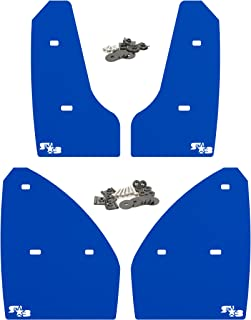 RokBlokz Mud Flaps for 2015+ MK7 Volkswagen Golf GTI - Multiple Colors Available - Mud Guards are Custom Cut and Fit - Includes All Mounting Hardware (Deep Blue with White Logo, Original)