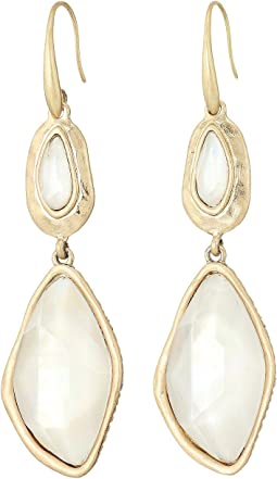 Large Stone Double Drop Earrings