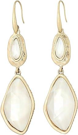 Sheila fajl large disc earrings gold Jewelry Women Shipped Free