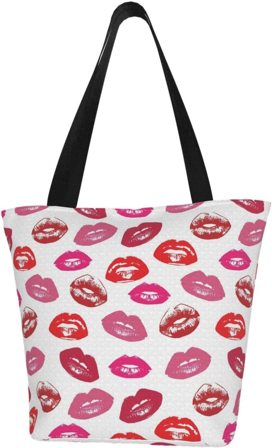 AKLID Vintage Red Lips Kiss Pattern Resistant Nippon regular agency Water Large Extra Recommendation