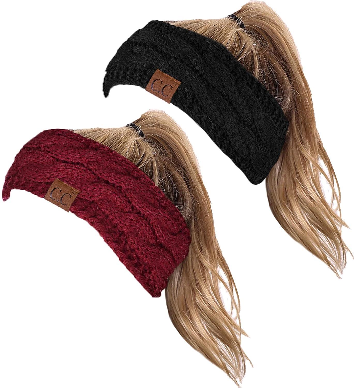 HW-6033-2-20a-0664 Headwrap Bundle - Black & Burgundy (2 Pack)