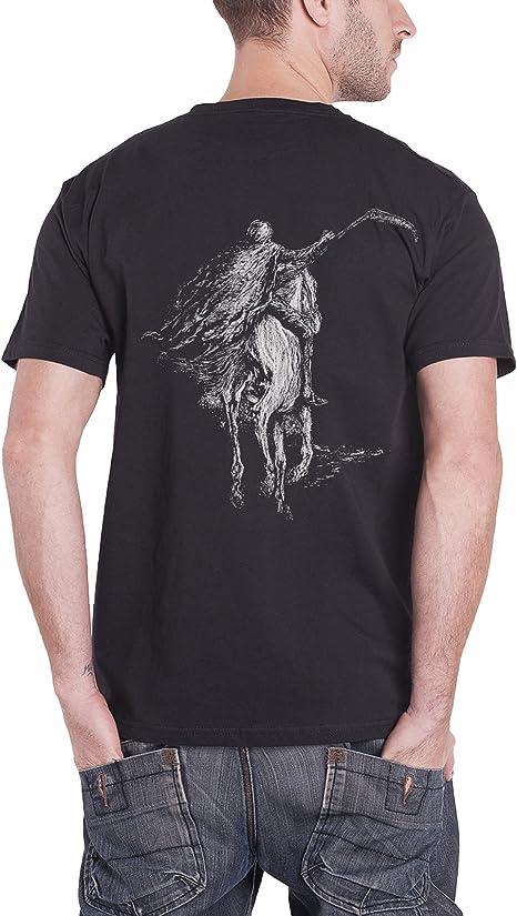 Homme Front /& Back Print T-shirt Destroyer 666-Crâne