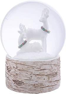Majors 4 inch Snow Globe Glitter with Polyresin Base (White, Deer)