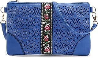 DukeTea Small Leather Crossbody Purse, Crossover Phone Bag for Women Teen Girls