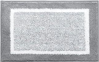Alfombra de baño FANJIANI Antideslizante Alfombra Hall de Entrada Home Mat Cocina Baño Baño Alfombrilla Alfombra (Color : Gray, Tamaño : 45 * 60cm)