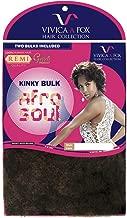 Vivica A Fox Hair Collection HKBK16L-V Human Hair Afro Curl Kinky Bulk Extension, FS27/613, 5.8 Ounce