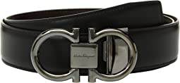 Adjustable/Reversible Double Gancini Dress Belt