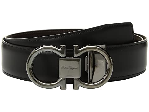 Salvatore Ferragamo Adjustable/Reversible Double Gancini Dress Belt