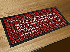 Burns Night Scotch Drink Whisky Poem Quote Tartan Scottish bar Runner mat Robert Burns
