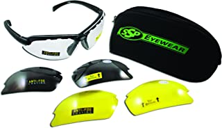 SSP Eyewear Top Focal Tactical Safety Glasses Kit with Assorted Interchangeable 1.50 Bifocal Lenses,TF 1.50 AST KIT