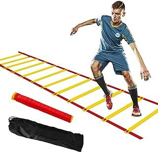 CNXUS Agility Ladder, träningsstege fotboll 5 m 10 rung sportstege hastighetsstege för fotboll hastighet Agility träningsu...
