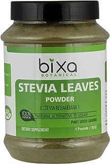 Stevia Leaf Powder (Stevia Rebaudiana) - Unprocessed Stevia Sugar | Helps to Control Blood Sugar and Blood Pressure Level | Natural Alternative to Processed Sugar (16 Oz / 1 Pound)