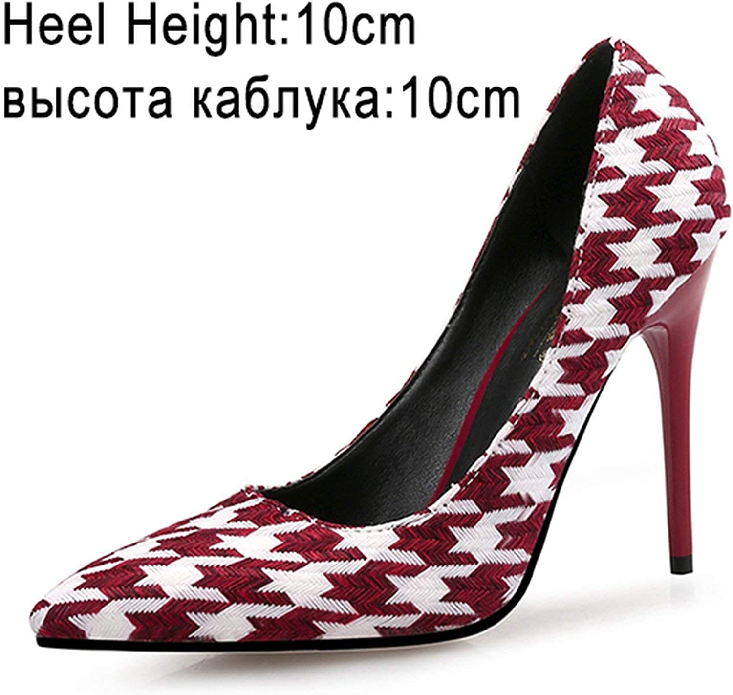 All-About-Us Fashion Women Pumps High Heels shoes Brand Spring Woman Dress shoes Thin Heels Plus Size Pointed Toe Single Female Pumps PartyDI