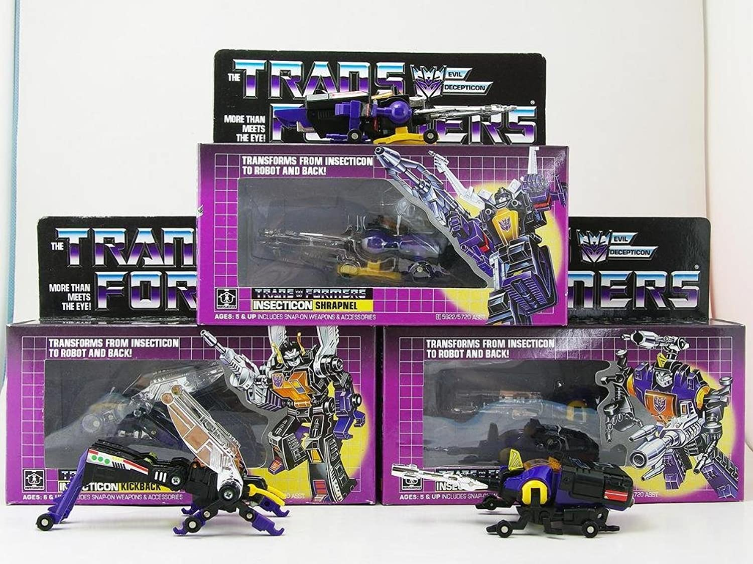 Transformers INSECTICONS Set G1 Decepticons Reissue Edition