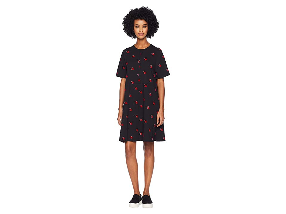 McQ Cut Babydoll Dress (Darkest Black) Women