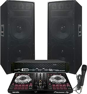 6100 Watt - Pioneer - Serato - DJ System - Pioneer DJ Controller DDJ-SB3 - Serato DJ Lite Software - Dual 15