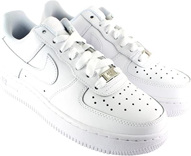 Nike Donna Air Force 1 Low Profile Pelle con Cordoncino Casual ...
