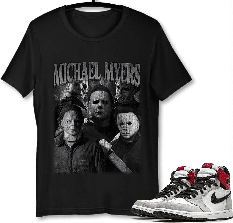 #Michael #Myer T-Shirt to Match NEW New Shipping Free Shipping Jordan Sneaker Grey 1 Smoke Snkr