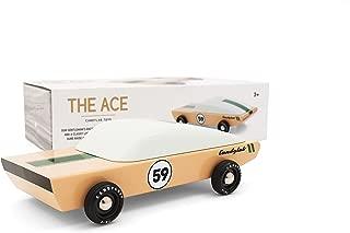 Candylab Toys - Ace Wooden Car - Modern Vintage Racer - Solid Beech Wood
