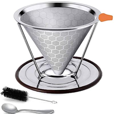 Pour Over Coffee Filter Stainless Steel, Reusab...